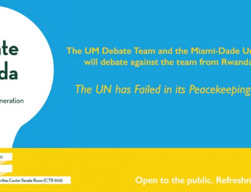The UM Debate Team Hosts Team from Rwanda