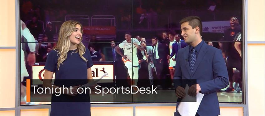 Madison Brown and David Perez hosting SportsDesk