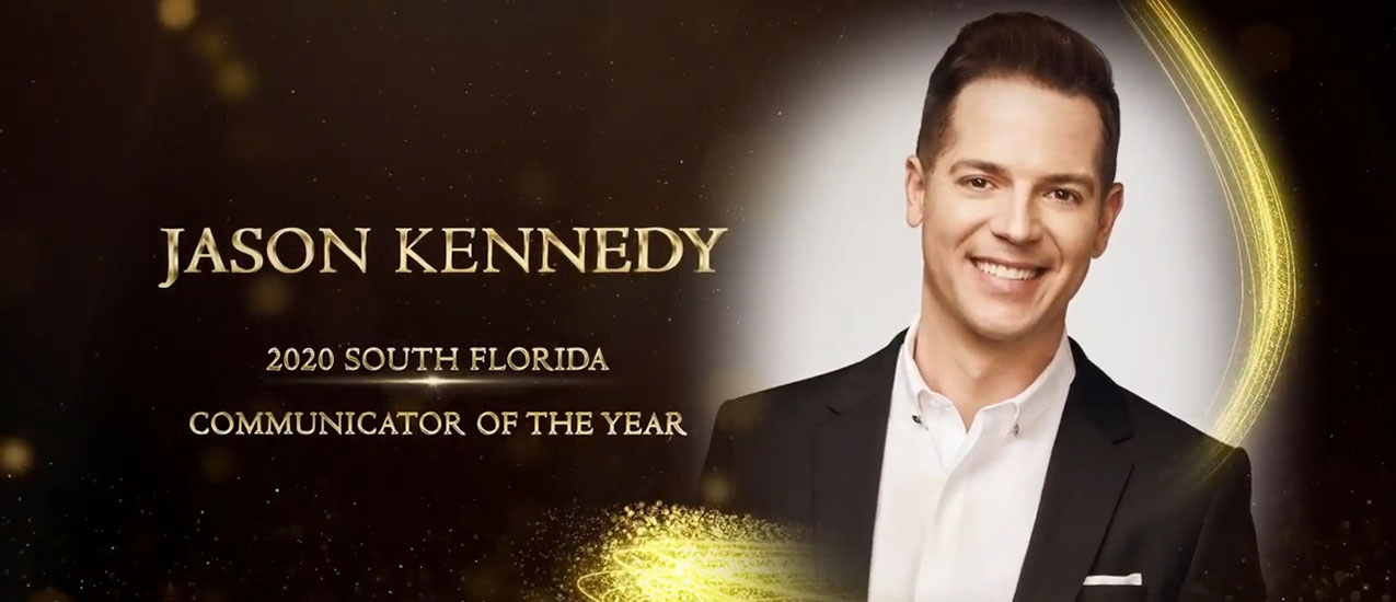 Jason Kennedy received the 2020 South Florida Communicator of the Year Award during the 71st Annual University of Miami Student Media Awards.