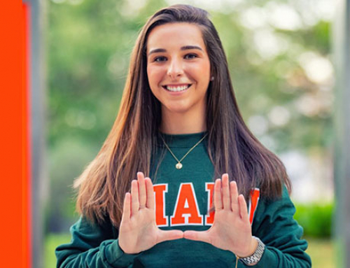 Graduate Expresses Gratitude for her Hurricane Family