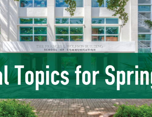 Special Topics for Spring 2021 Announced